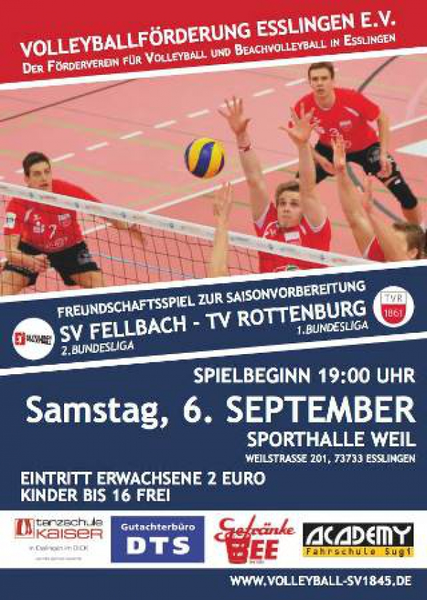 Volleyball Bundesliga TV Rottenburg SV Fellbach
